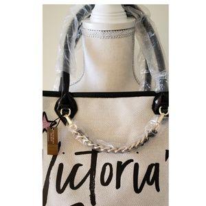 Victoria's Secret Bags - Victoria's Secret - Canvas Ivory Colored Tote NWT